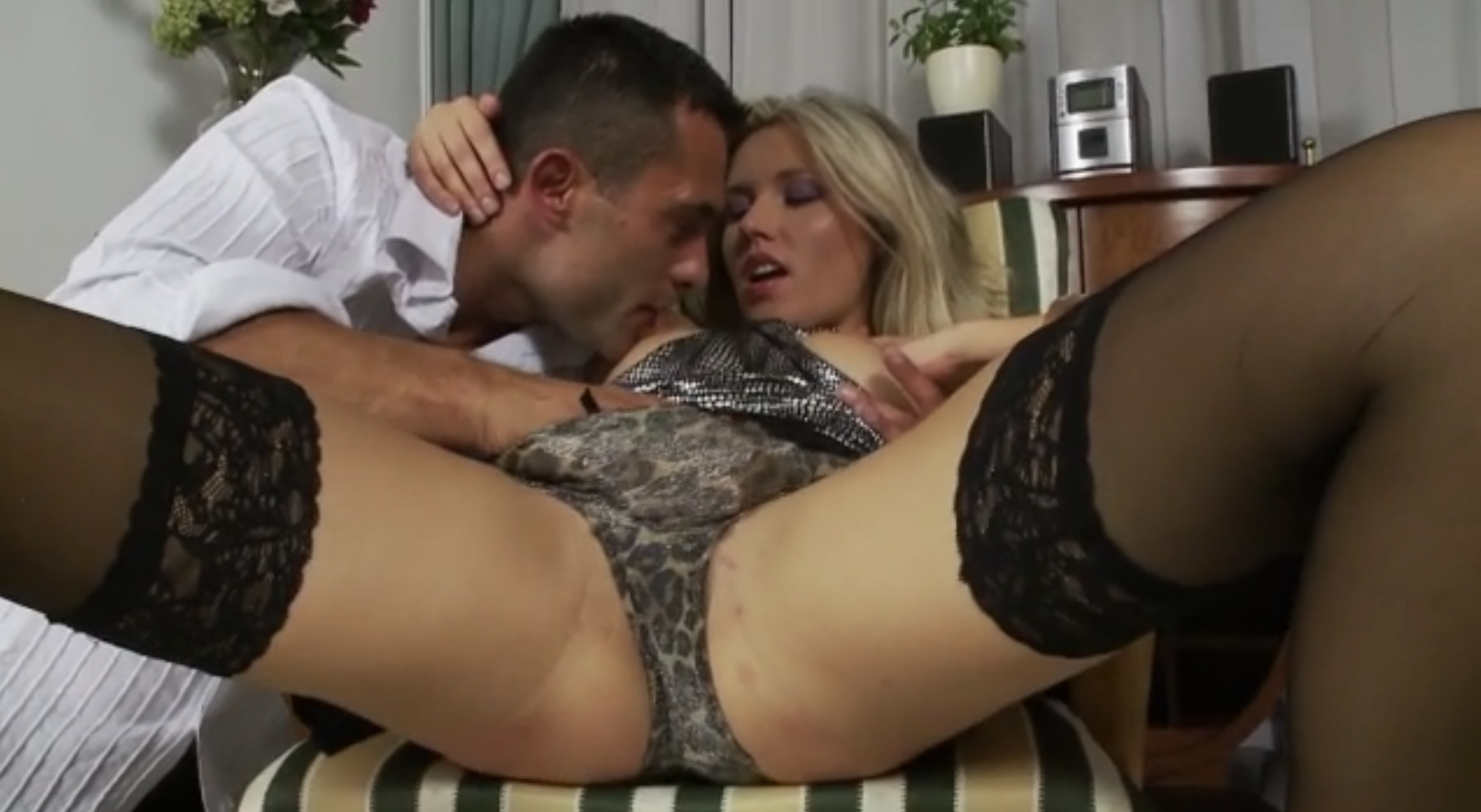 Blonde slut with flexible body fucks big cock